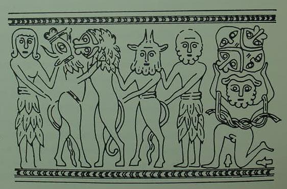 Illustrationofgilgameshandenkidu